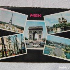 Postales: PARIS 61-12 LA TOUR EIFFEL ET LES JEUX D'EAU DU PALAIS CHAILLOT. CIRCULADA. Lote 151670866