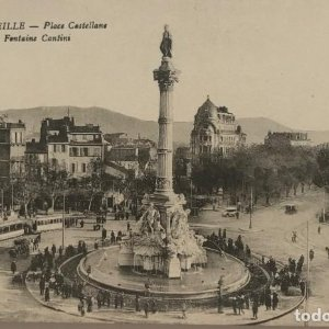 Marseille. Place Castellane. Fontaine Cantini