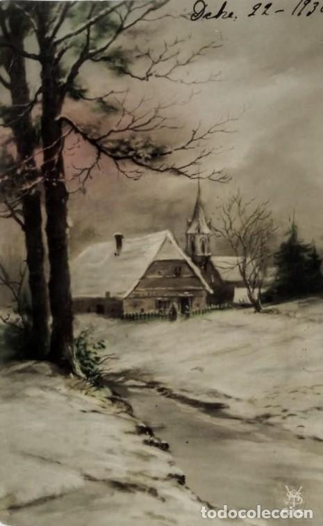 1930 Postal paisaje nevado - 135147334