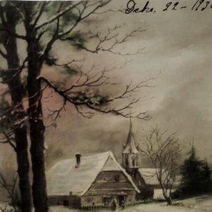 1930 Postal paisaje nevado