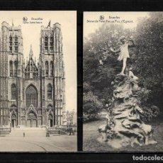 Postales: BRUSELAS ANTIGUAS POSTALES LOTE DE 2 POSTALES . Lote 154324062