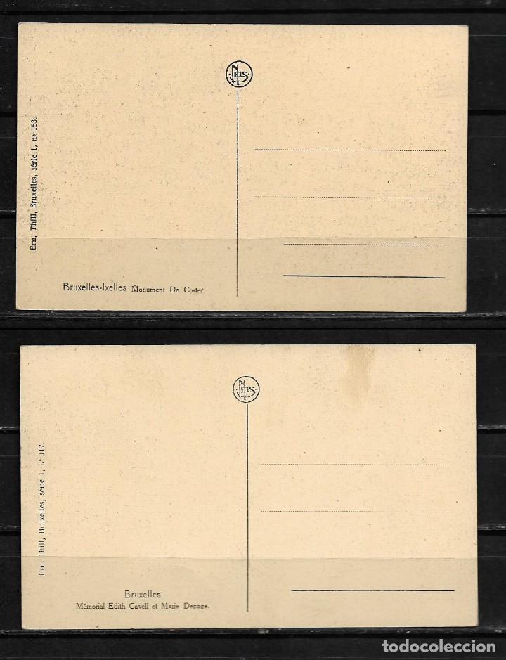 Postales: Bruselas antiguas postales lote de 2 postales - Foto 2 - 154324314