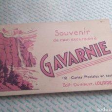 Postales: BLOC 12 POSTALES COLOR SOUVENIR DE MON EXCURSION A GAVARNIE. ED QUINAULT. LOURDES. Lote 154501214