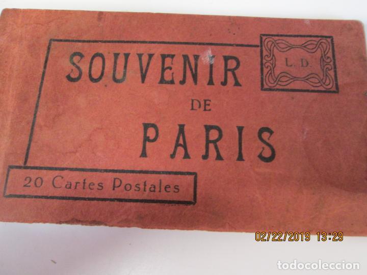 SOUVENIR DE PARIS - LIBRITO 20 POSTALES MAGNIFICAS DE MONUMENTOS DE PARIS. (Postales - Postales Extranjero - Europa)