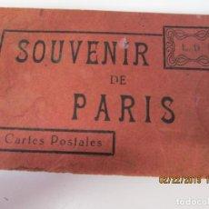 Postales: SOUVENIR DE PARIS - LIBRITO 20 POSTALES MAGNIFICAS DE MONUMENTOS DE PARIS. . Lote 155166870