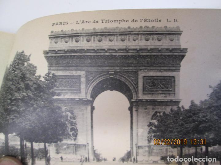 Postales: SOUVENIR DE PARIS - LIBRITO 20 POSTALES MAGNIFICAS DE MONUMENTOS DE PARIS. - Foto 4 - 155166870