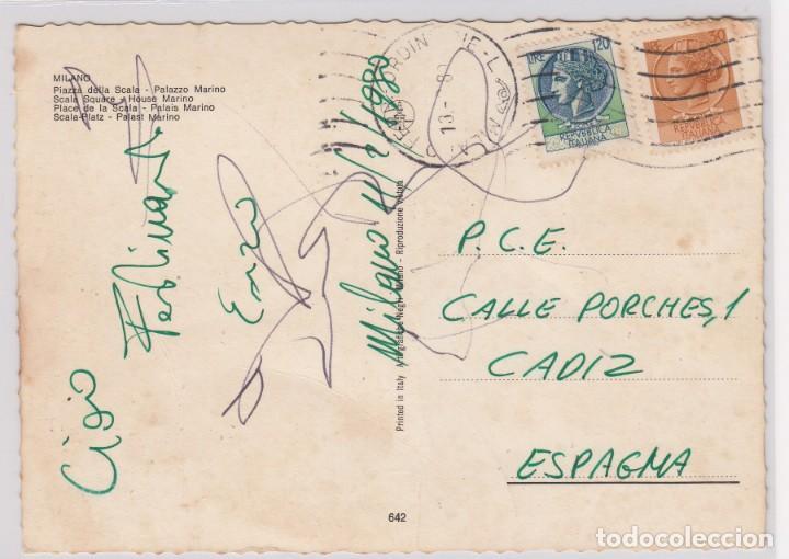 Postales: escasa postal milano piazza della scala - palazzo marino - Foto 2 - 155300522