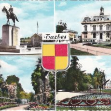 Postales: TARBES, STATUE DU MARECHAL, PARC MASSEY, LE MUSEE, FRANCIA. Lote 155797214