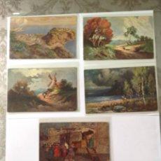 Postales: POSTALES ANTIGUAS (LOTE DE 5 POSTALES EN COLOR). Lote 155920100