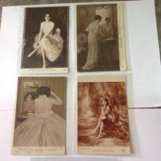 Postales: POSTALES ANTIGUAS (LOTE DE 5 POSTALES SALÓN DE PARÍS). Lote 155921941