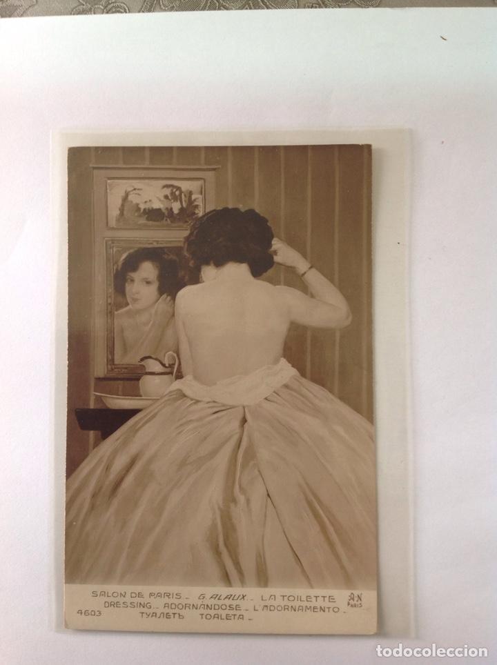Postales: POSTALES ANTIGUAS (lote de 5 POSTALES salón de París) - Foto 2 - 155921941