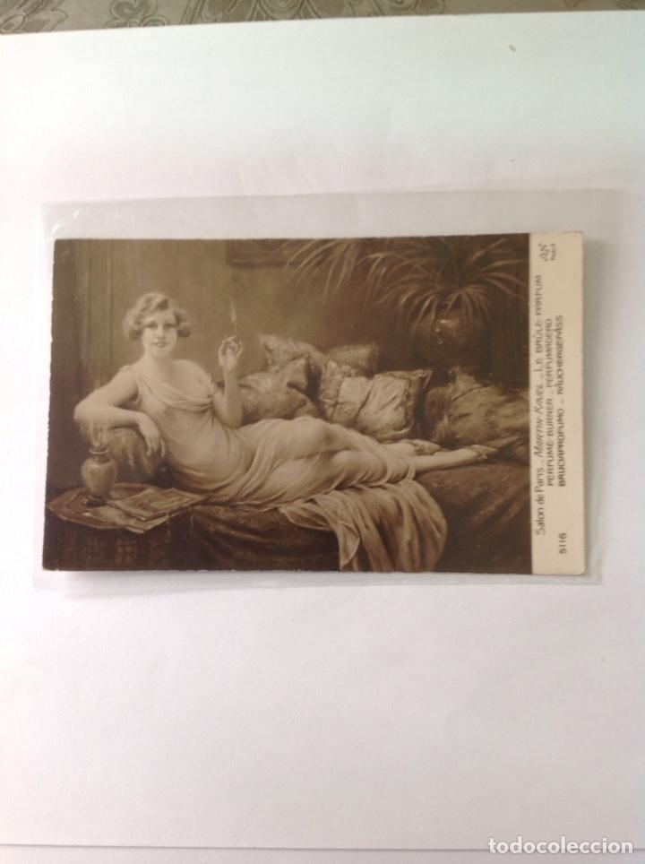 Postales: POSTALES ANTIGUAS (lote de 5 POSTALES salón de París) - Foto 3 - 155921941