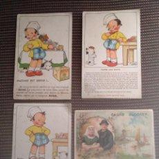 Postales: CARTE POSTALE DE FRANCIA MARGARINE ASTRA - CACAO BLOKER. Lote 156515754