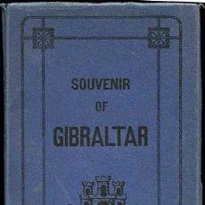 Postales: SOUVENIR DE GIBRALTAR BLOC DESPLEGABLE COMPLETO CON 10 POSTALES ED. V.B. CUMBO. Lote 156526250