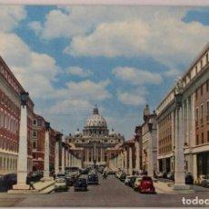 Postales: ITALIA - ROMA -VIA DELLA CONCILIAZIONE E S. PIETRO- (KODAK EKTACHROME 276/IV) SIN CIRCULAR / P-8116. Lote 156528598