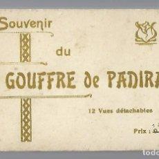 Postales: E100- BLOC DE 12 CARTES POSTALES ANTIGUAS DE LA - GOUFFRE DE PADIRAC. Lote 156529646