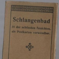 Postales: E100- BLOC DE 10 CARTES POSTALES ANTIGUAS DE SCHLANGENBAD - . Lote 156591110