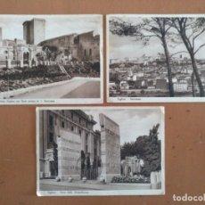 Postales: TRES POSTALES CAGLIARI (CERDEÑA-ITALIA) CIRCULADAS 1939 CON SELO CENSURA MILITAR . Lote 157349074