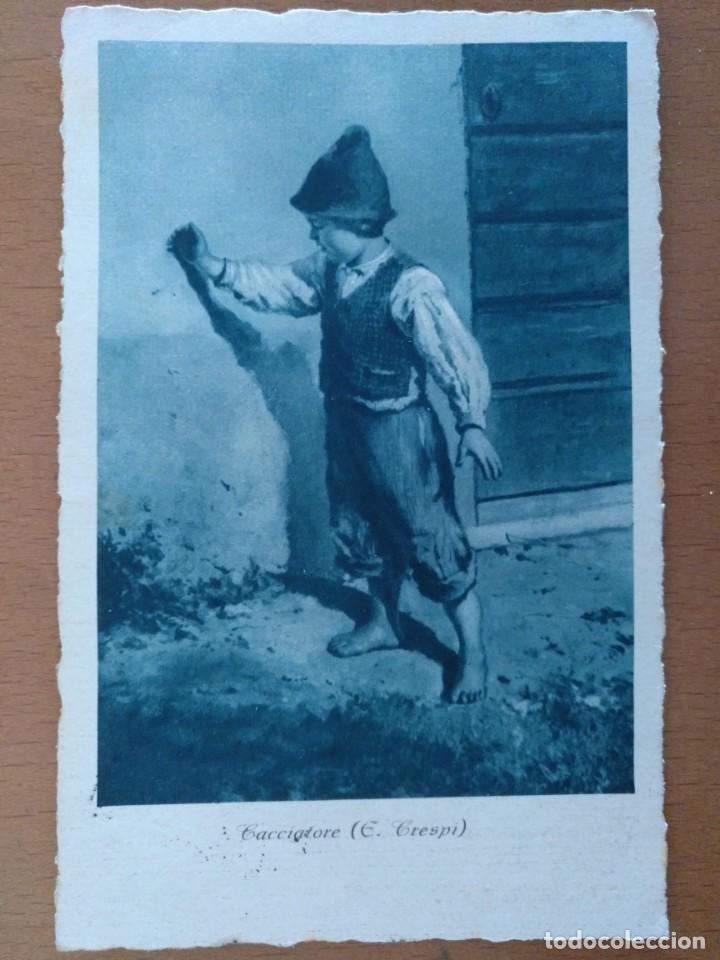 POSTAL CACCIATORE (E. CRESPI) CIRCULADA 1939 SELLO CENSURA MILITAR BARCELONA (Postales - Postales Extranjero - Europa)