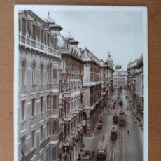 Postales: POSTAL GENOVA (ITALIA) VIA XX SETEMBRE CIRCULADA 1939 SELLO CENSURA MILITAR BARCELONA. Lote 158030058