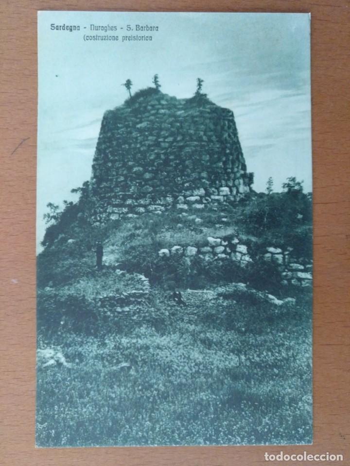 POSTAL CERDEÑA (ITALIA) CONSTRUCCION PREHISTORICA CIRCULADA 19125 CAGLIARI (Postales - Postales Extranjero - Europa)