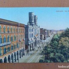 Postales: POSTAL CAGLIARI (CERDEÑA ITALIA) VIA ROMA CIRCULADA 1928. 9 X 14 CM (APROX). Lote 158377390