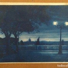 Postales: POSTAL NOCTURNA ROMA PIAZAZALE DEL PINCIO CIRCULADA 1934 15 X 10 CM (APROX). Lote 158377746