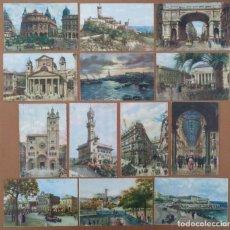 Postales: LOTE 13 POSTALES GENOVA (ITALIA) CIRCULADAS 1929 14 X 9 CM (APROX). Lote 158516946