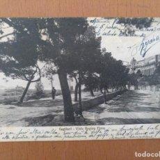 Postales: POSTAL CAGLIARI(CERDEÑA-ITALIA) VIALE REGIMA ELENA CIRCULADA 1926. Lote 158517990