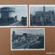Postales: LOTE TRES POSTALES ROMA (ITALIA) CIRCULADAS 1930 . Lote 158521290