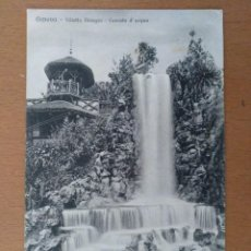 Postales: POSTAL GENOVA VILLETA DINEGRO CASCADA D'ACQUA CIRCULADA 1939 SELLO CENSURA MILITAR BARCELONA. Lote 158521518