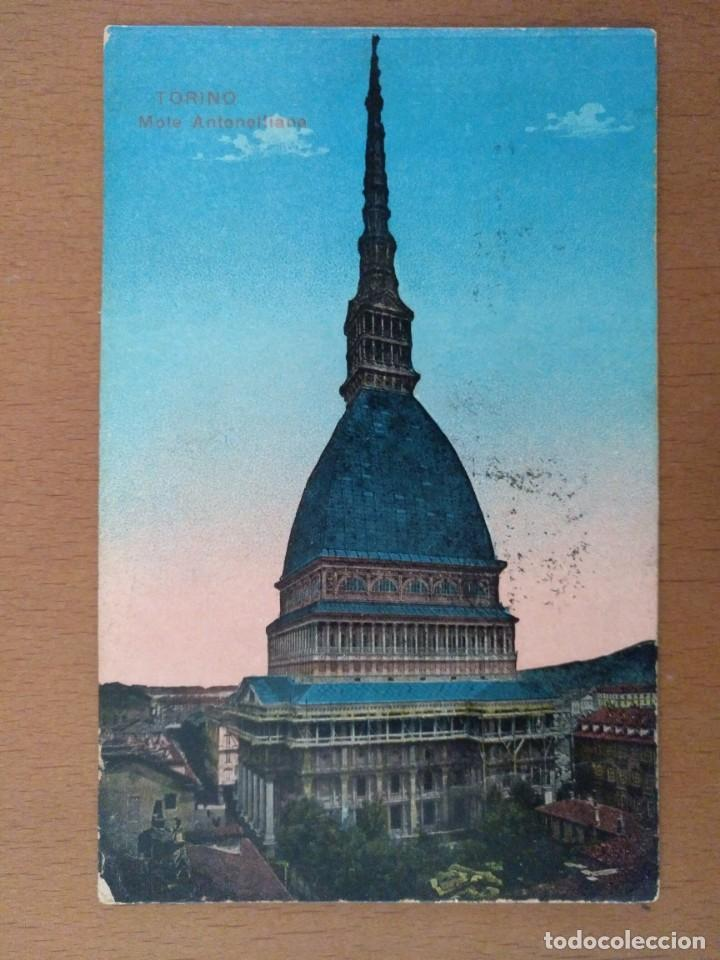 POSTAL TORINO (ITALIA) MOLE ANTONELLIANA CIRCULADA 1926 (Postales - Postales Extranjero - Europa)