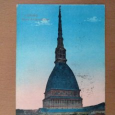 Postales: POSTAL TORINO (ITALIA) MOLE ANTONELLIANA CIRCULADA 1926. Lote 158522398
