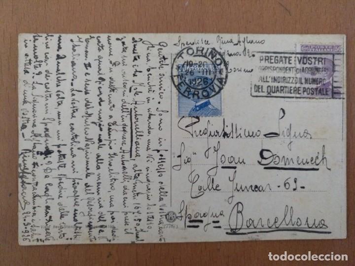 Postales: POSTAL TORINO (ITALIA) MOLE ANTONELLIANA CIRCULADA 1926 - Foto 2 - 158522398