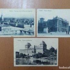 Postales: LOTE 3 POSTALES TORINO (ITALIA) CIRCULADAS 1926. Lote 158522746