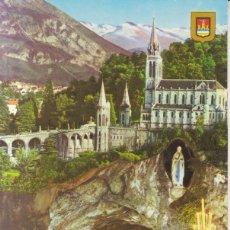 Postales: FRANCIA LOURDES LA BASILICA POSTAL CIRCULADA . Lote 158638046