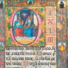 Postales: MONTECASSINO (ITALIA), LIBRO CORAL DE LA ESCUELA FLORENTINA, SIGLO XV, LA SANTISIMA TRINIDAD. Lote 159665130