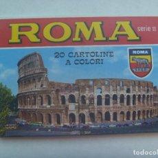 Postales: LOTE DE 17 POSTALES DE ROMA ( ITALIA ) . AÑOS 60. DE KODAK EKTACHROME. Lote 160250730