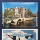 Postales: LOTE 2 TARJETAS POSTALES HOLANDA AMSTERDAM AÑOS 90 NUEVAS . Lote 160627642