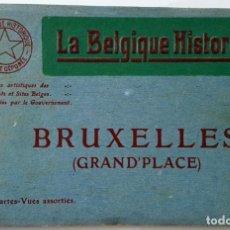 Postales: ANTIGUO ALBUM DE 12 POSTALES GRAND'PLACE DE BRUSELAS. IMPRESOR: DESAIX. SIN USO.. Lote 160803858