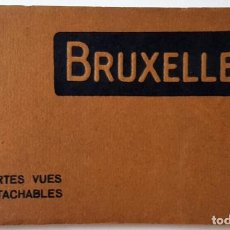 Postales: ANTIGUO ALBUM DE 10 POSTALES DE BRUSELAS. IMPRESOR: NELS. SIN USO.. Lote 160805766