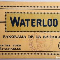 Postales: ANTIGUO ALBUM DE 12 POSTALES DE WATERLOO (BELGICA). IMPRESOR: NELS. SIN USO.. Lote 160806662