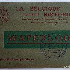Postales: ANTIGUO ALBUM DE 10 POSTALES DE WATERLOO (BELGICA). IMPRESOR: DESAIX. SIN USO.. Lote 160807278