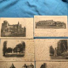 Postales: CARCASSONE BARCELONA. 6 VISTAS. CIRCULADAS 1900. Lote 160932025
