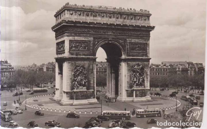 FRANCIA PARIS ARCO DE TRIUNFO POSTAL CIRCULADA 1958 (Postales - Postales Extranjero - Europa)