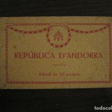 Postales: REPUBLICA D' ANDORRA-BLOC COMPETO DE 20 POSTALES ANTIGUAS-THOMAS-VER FOTOS-(58.913). Lote 161699782