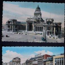 Postales: 2 ANTIGUAS POSTALES SIN CIRCULAR DE BRUSELAS. Lote 162457730