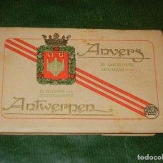 Postales: AMBERES - BELGICA - ÀLBUM DE 20 POSTALES. ALBERT - CONSERVA 18 POSTALES. Lote 162510602