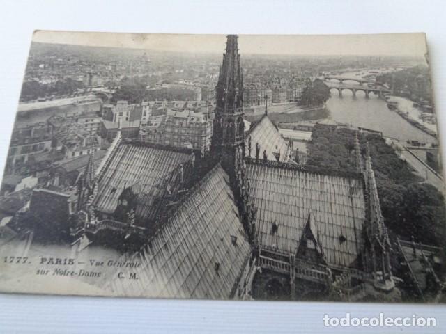 FRANCIA. PARIS. VISTA GENERAL DE LA CIUDAD DESDE NOTRE DAME. POSTAL CIRCULADA 1922 (Postales - Postales Extranjero - Europa)