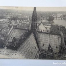 Postales: FRANCIA. PARIS. VISTA GENERAL DE LA CIUDAD DESDE NOTRE DAME. POSTAL CIRCULADA 1922. Lote 163812134